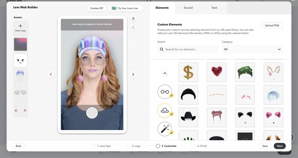 Saját, személyre szabott kiterjesztett valóság filterünk a Snapchat Lens Web Studio-ban.