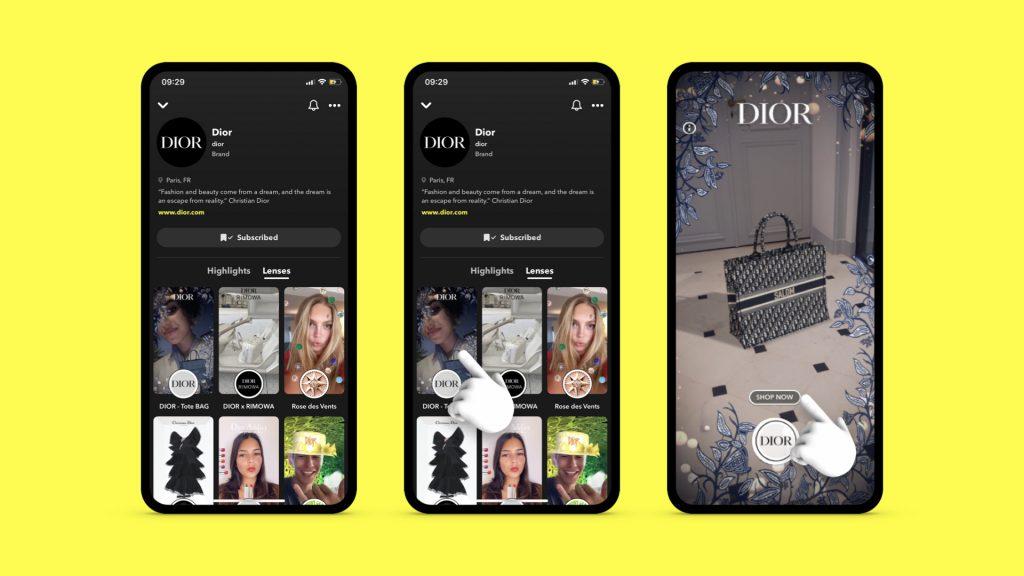 Dior Snapchat Márka profil