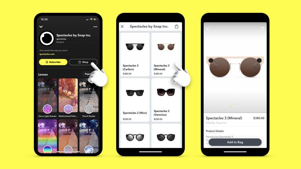 Snapchat márka profil áruház