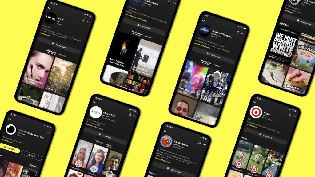 Snapchat Brands profiles, vagyis Márka profilok