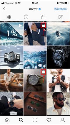 Instagram Shop megjelenése Feedben