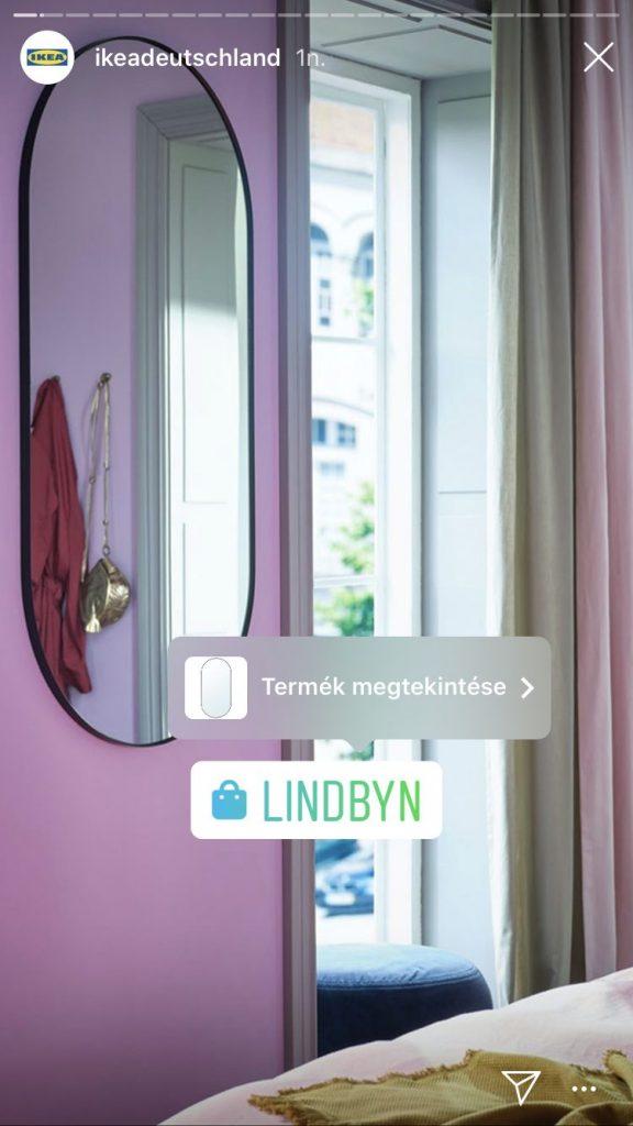 Instagram Shop matrica Storyban
