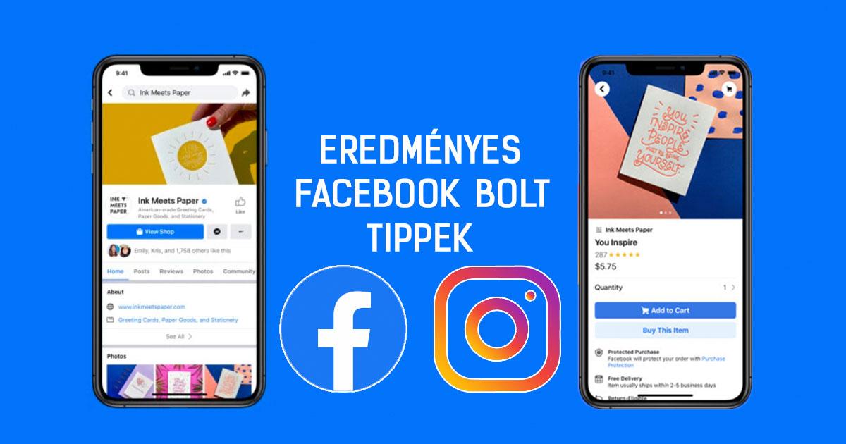 Facebook shop létrehozása